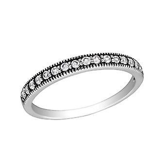 Eternity - 925 Sterling Silver Jewelled Rings - W30142X