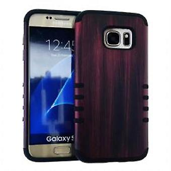 Rocker Series Slim Protector Case for Samsung Galaxy S7 (Wood Design)