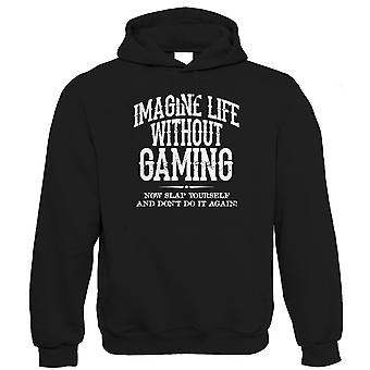 Life Without Gaming Mens Funny Hoodie (S to 5XL)