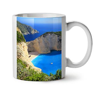 Cliff Ocean Water NEW White Tea Coffee Ceramic Mug 11 oz | Wellcoda