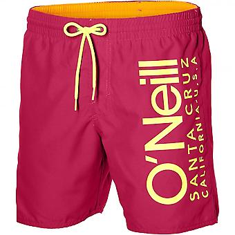 O'Neill California Retro Logo Swim Shorts, Watermelon