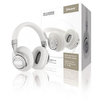 Sweex Headset Bluetooth/ANC (Active Noise Cancelling) Over-ear White/Silver