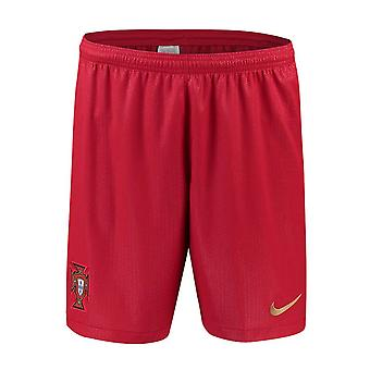 2018-2019 Portugal Nike Home Shorts (Red)