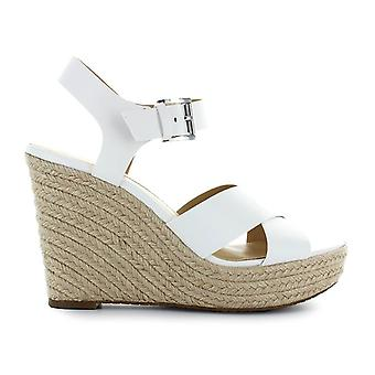 Michael Kors women's 40S8KAHS1L085 White Leather wedge heel