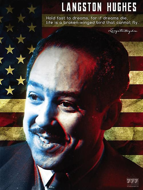 Langston Hughes Poster Hold Fast to Dreams Classroom Quote (18x24)
