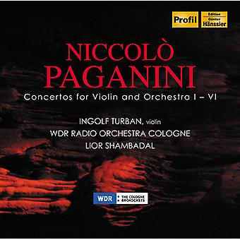 Paganini/Ingolf Turban - Cons 1-6 for Vln & Orch [CD] USA import