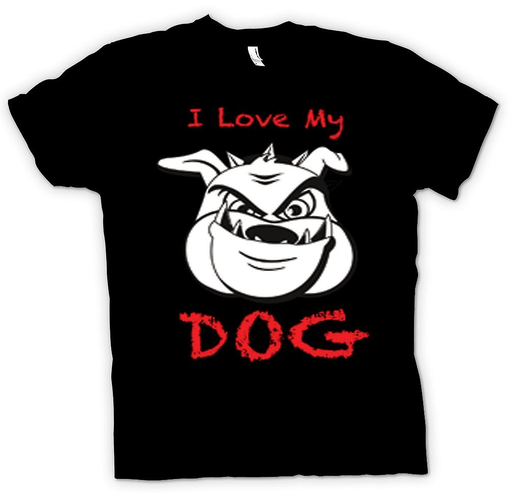 Mens T-shirt - I love my Dog - Animal Lover