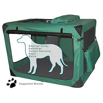 VALENTINA VALENTTI XXXXL PET FOLDING CANVAS CARRIER TRANSPORT CRATE XXXXL GREEN