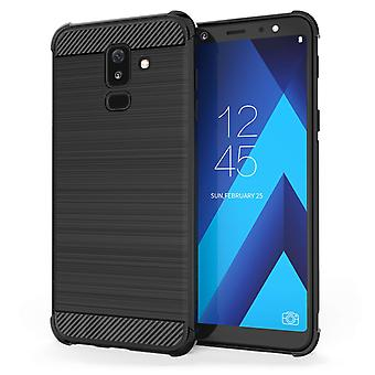Samsung Galaxy A6 Plus (2018) Carbon Anti Fall TPU Case - Black