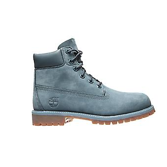 Timberland leather boots 6 premium WP junior blue