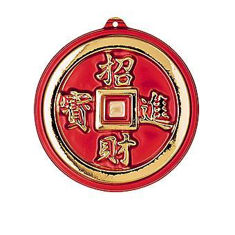 3D orientalske mønter dekoration - 25cm