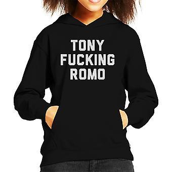 Tony Fucking Romo Kid's Hooded Sweatshirt
