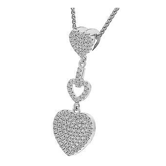 Orphelia plata 925 colgante Triple corazón zirconio ZH-7273