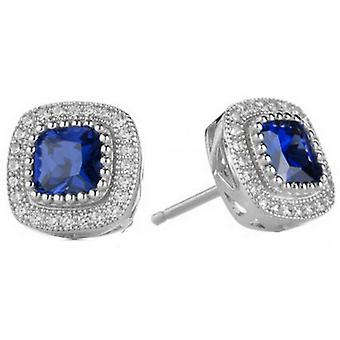 Cavendish French Beauty Earrings - Silver/Blue