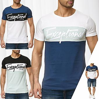 Men's T-Shirt font pattern sublevel summer short sleeve round neck short sleeve shirt