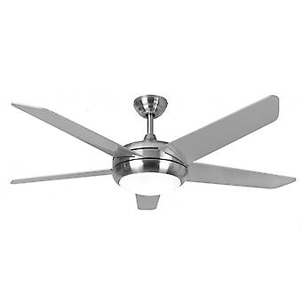 Ceiling Fan Neptune in Stainless Steel with LED Light