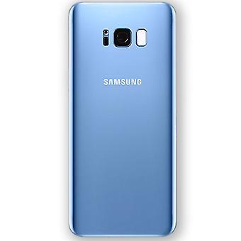 Samsung GH82-13962D Akkudeckel Deckel für Galaxy S8 G950 G950F + Klebepad Blau