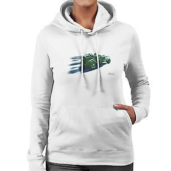 Vintage Bentley Race Streaks At Le Mans Women's Hooded Sweatshirt