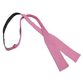 Amaranto rosa Chambray cotone Batwing cravatta