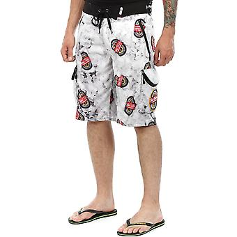 Metal Mulisha Black-Red Menace D-Lush Technical Drinking Boardshorts