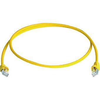 Telegärtner RJ45 réseaux câble CAT 6 a S/FTP 20 m jaune ignifuge, sans halogène