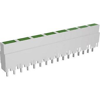 LED linear array 8x Green (L x W x H) 40.8 x 3.7 x 9 mm Signal Construct ZALW 082