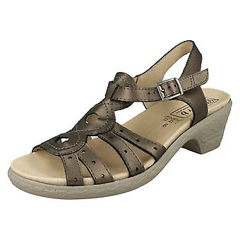 Ladies Easy B Wide Fit Heeled Sandals Tamsin