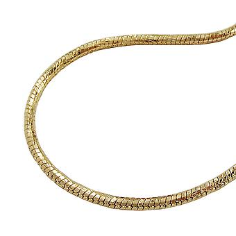 Catena 1, 5mm serpente catena intorno diamantiert 70cm oro placcato AMD