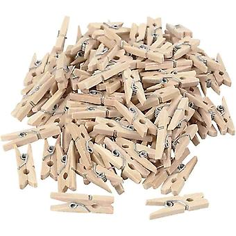 100 Pcs 25 Mm Wooden Miniclip Herring Clothespin| For Art Photos DIY Decoration Parties Bedroom