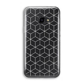 سامسونج Galaxy XCover 4 شفافة القضية (الناعمة)-مكعبات أبيض وأسود
