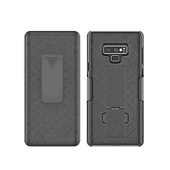 KuKu Mobile Kickstand Shell & Holster for Samsung Galaxy Note 9 - Black