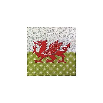 Union Jack Wear Welsh Dragon  Birthday Card - Wales