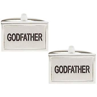 David Van Hagen Godfather Cufflinks - Silver