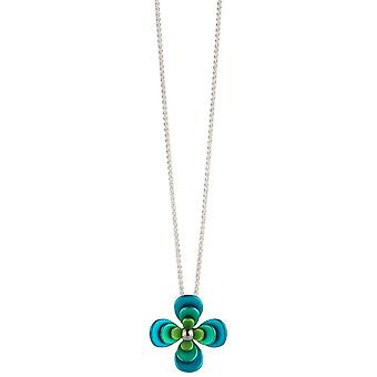 Ti2 titanio cuatro doble pétalo flor colgante - verde