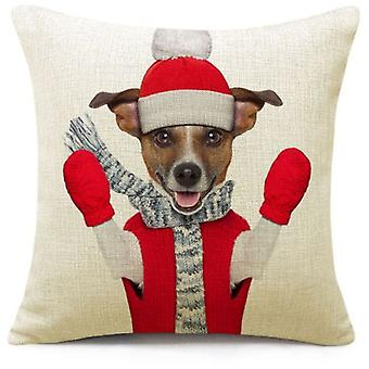 Wellindal Christmas Dog Cushion Cover (Decoration , Cushions)