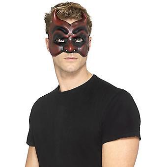 Smiffy's Masquerade Devil Mask, Latex, Red, Mens
