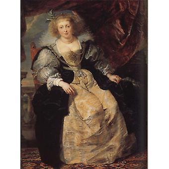 Helena Fourment Seated on a Terrace,Peter Paul Rubens