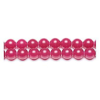Strand 62+ Fuchsia Malaysian Jade 6mm Plain Round Beads GS9967-2