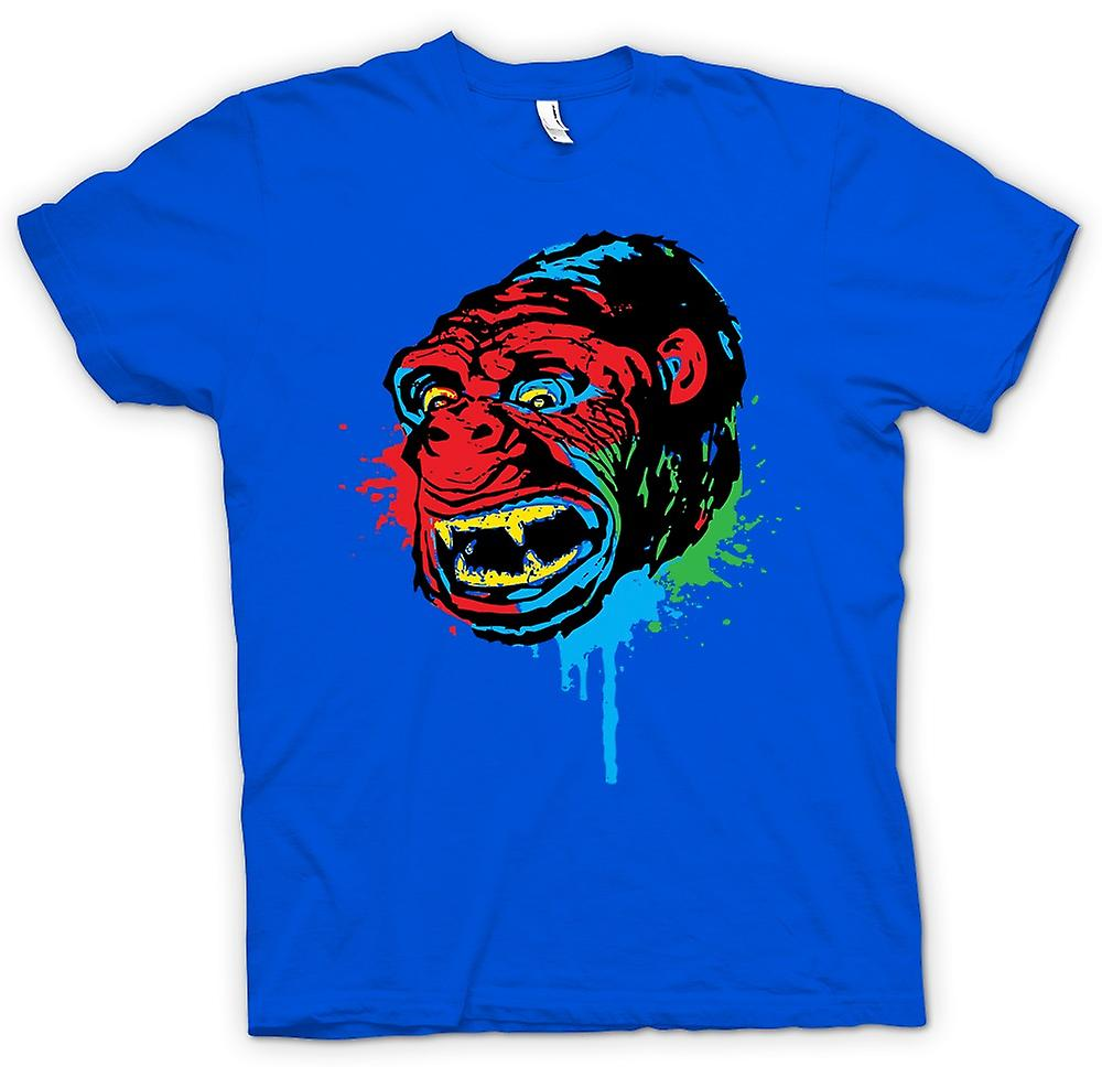 Mens t-skjorte-Pop Art - Ape Gorilla - kult Design