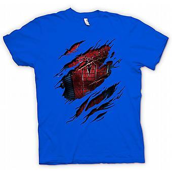 Womens T-shirt - New Spiderman Costume - Superhero Ripped Design