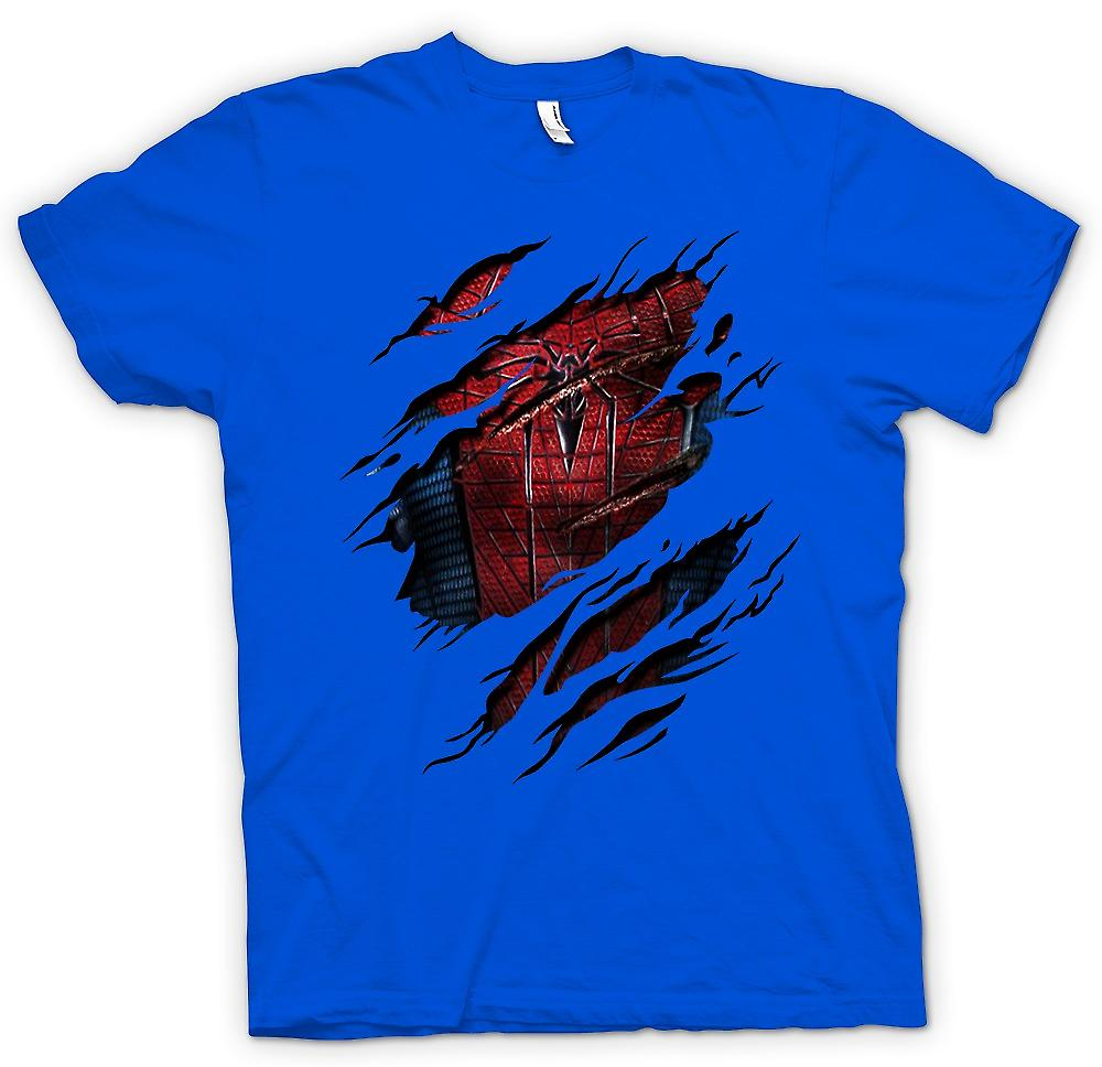 Heren T-shirt - nieuw Spiderman-kostuum - superheld geript Design