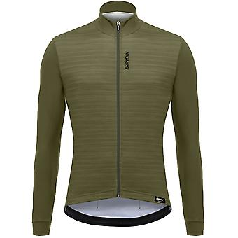 Santini verde 365 Classe Long Sleeved ciclismo maglia