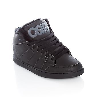 Osiris Black-Charcoal Convoy Mid Shearling Shoe