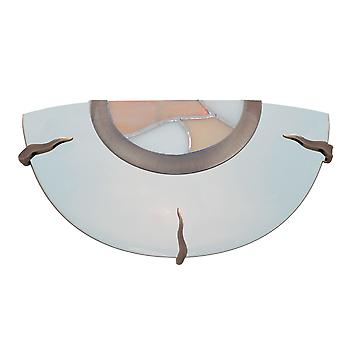 Searchlight 36097AM Glass and Tiffany Wall Light