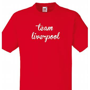 Team Liverpool rød T shirt