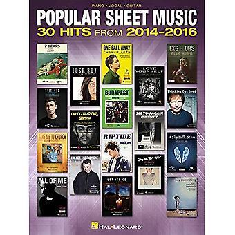 Populära Sheet Music: 30 träffar från 2014-2016