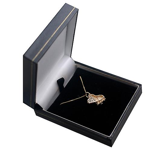 9ct Gold 15x9mm moveable Piano Pendant with a curb Chain 16 inches Only Suitable for Children