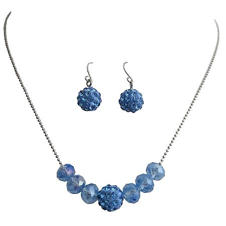 Return Gift Jewelry Sapphire Blue Jewelry Set
