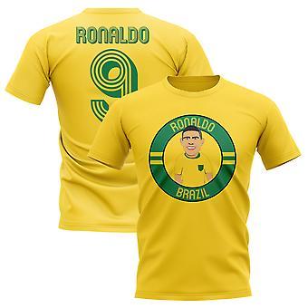 Ronaldo Brazil Illustration T-Shirt (Yellow)