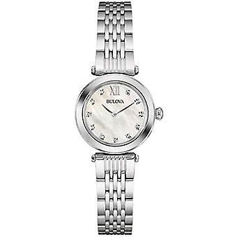 Bulova Diamond Watch 96W206-stainless steel design, female, mother of Pearl Dial
